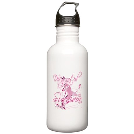Pink Ribbon Survivor Stainless Water Bottle 1.0L