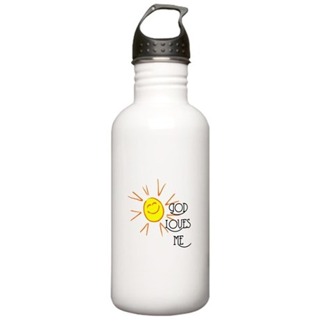 God Loves Me Stainless Water Bottle 1.0L
