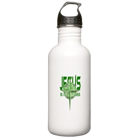 Jesus is My Compass Stainless Water Bottle 1.0L