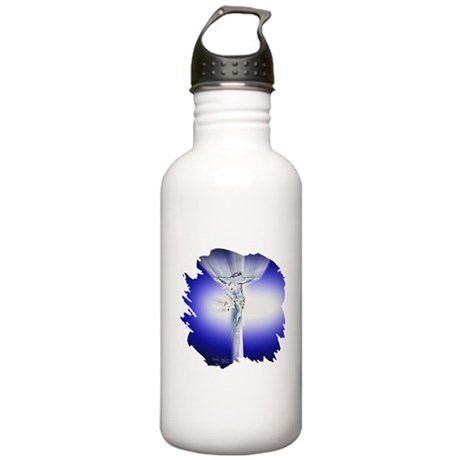Jesus on Cross Stainless Water Bottle 1.0L