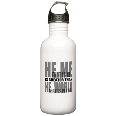 He is Greater Stainless Water Bottle 1.0L