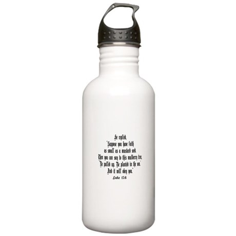 Luke 17:6 NIRV Stainless Water Bottle 1.0L