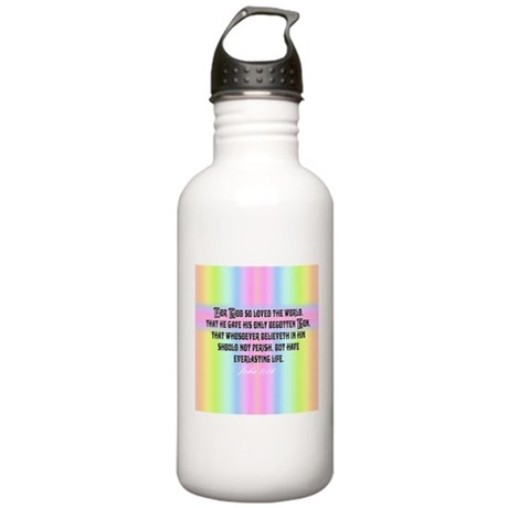 John 3:16 Rainbow Stainless Water Bottle 1.0L