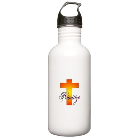 Prioritize Cross Stainless Water Bottle 1.0L