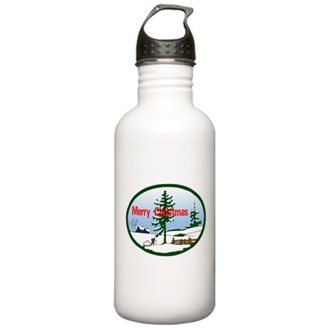 Christmas Snow Stainless Water Bottle 1.0L