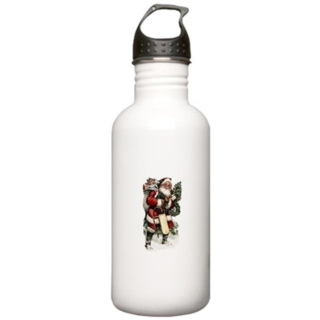 Vintage Santa Stainless Water Bottle 1.0L