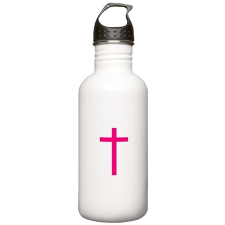 Pink Cross Stainless Water Bottle 1.0L
