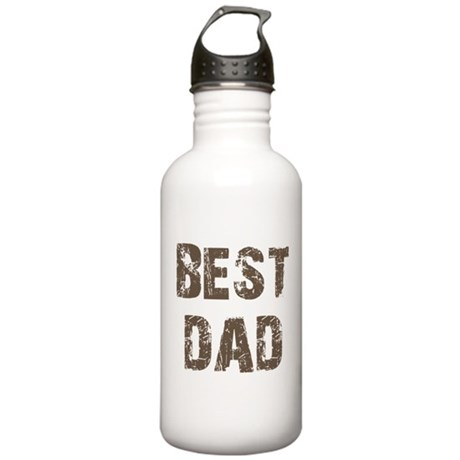 Best Dad Father's Day Brown Stainless Water Bottle