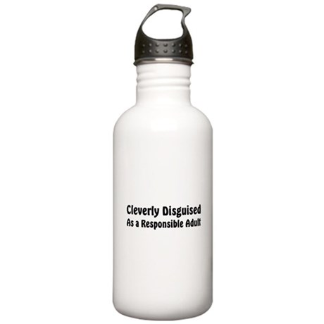 Cleverly Disguised Stainless Water Bottle 1.0L