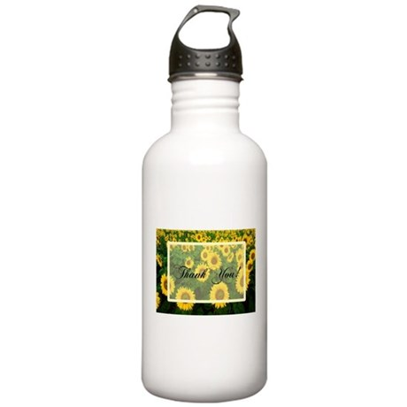 Sunflower Field Thank You Stainless Water Bottle 1