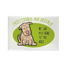 Funny Dog Groomer Rectangle Magnet