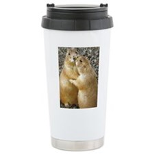Prairie Dog Kiss Ceramic Travel Mug