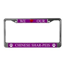 Purple We Love Our Chinese Shar-Peis Frame