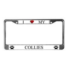 White I Love My Collies Frame