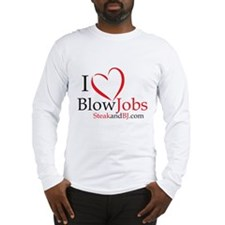 I Love Blowjobs! Long Sleeve T-Shirt
