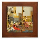 The Harem Dance by Giulio Rosati Framed Tile