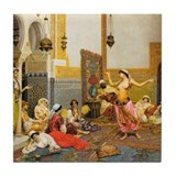 The Harem Dance by Giulio Rosati Tile Coaster