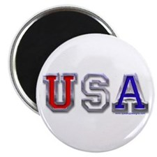 USA Chrome Magnet