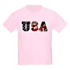 USA Flag Kids T-Shirt