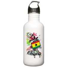 Flower Ghana Water Bottle