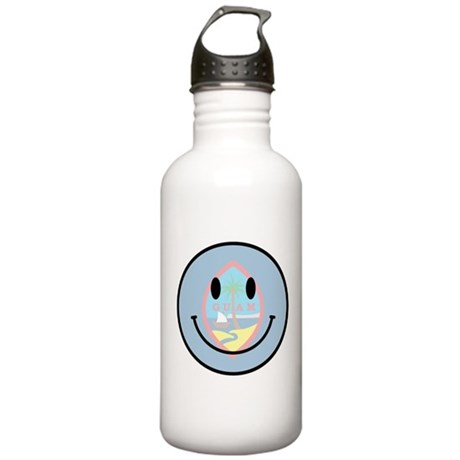 Guam Smiley Stainless Water Bottle 1.0L