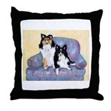 Two Shelties Throw Pillow