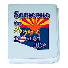 someone in arizona loves me baby blanket