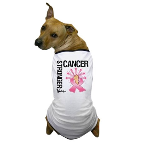 Stronger Than BreastCancer Dog T-Shirt