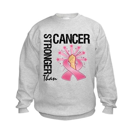 Stronger Than BreastCancer Kids Sweatshirt