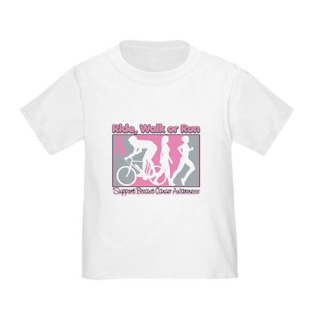 Breast Cancer RideWalkRun Toddler T-Shirt