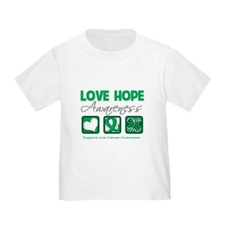 Liver Cancer Love Hope Toddler T-Shirt