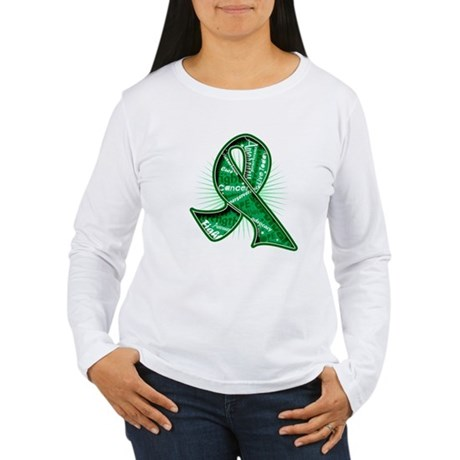 Liver Cancer Slogans Women's Long Sleeve T-Shirt