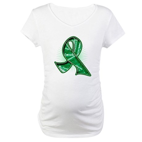 Liver Cancer Slogans Maternity T-Shirt
