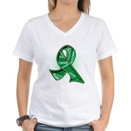 Liver Cancer Slogans Women's V-Neck T-Shirt