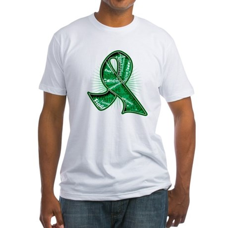 Liver Cancer Slogans Fitted T-Shirt