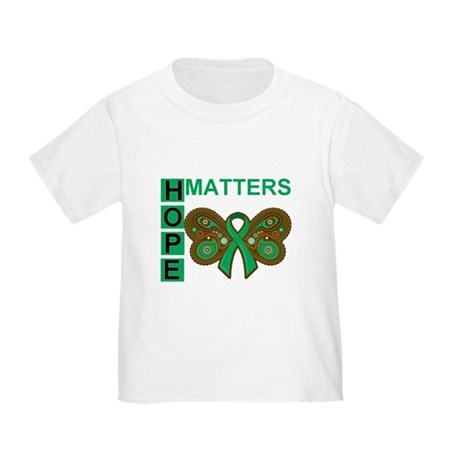 Liver Cancer Butterfly Toddler T-Shirt