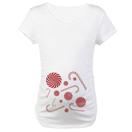 Peppermint Candy Graphic Maternity T-Shirt