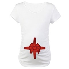Pregnant Belly Bow Maternity T-Shirt