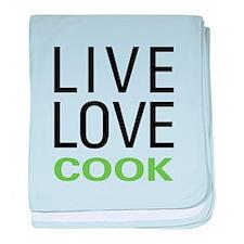 Live Love Cook baby blanket