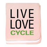 Live Love Cycle baby blanket