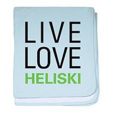 Live Love Heliski baby blanket