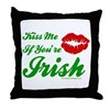 Kiss Me Irish Throw Pillow
