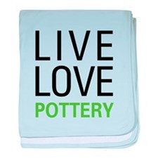Live Love Pottery baby blanket