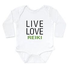 Live Love Reiki Long Sleeve Infant Bodysuit
