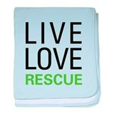 Live Love Rescue baby blanket