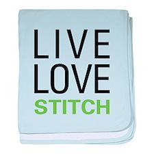 Live Love Stitch baby blanket