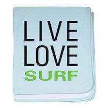 Live Love Surf baby blanket