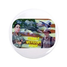 "Female Veteran Pride 3.5"" Button"