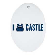 I Love/Vest Castle Ornament (Oval)