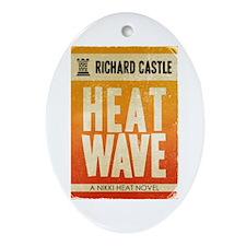 Castle Heat Wave Retro Ornament (Oval)